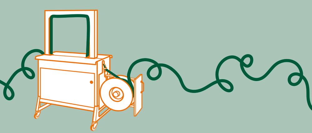 Sorglos Paket Umreifen: Maschine + Material
