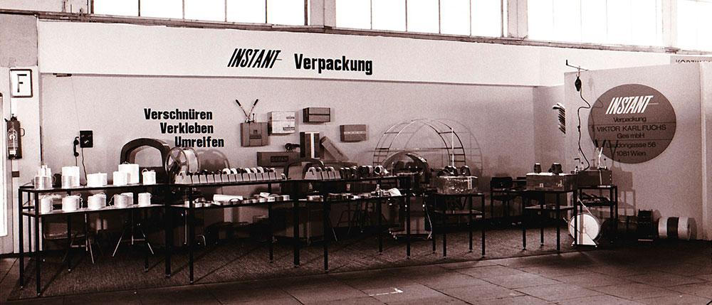 Bilddokument aus den 1969er Jahren - Verpackungslinie der Fa. Instant-Verpackung