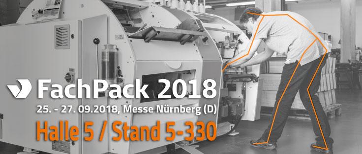 Gigant Verpackungstechnik präsentiert sich vom 25.9. bis 27.9.2018 auf der FachPack in Nürnberg.