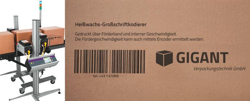 Wachsdrucker 5800 - Anwendung